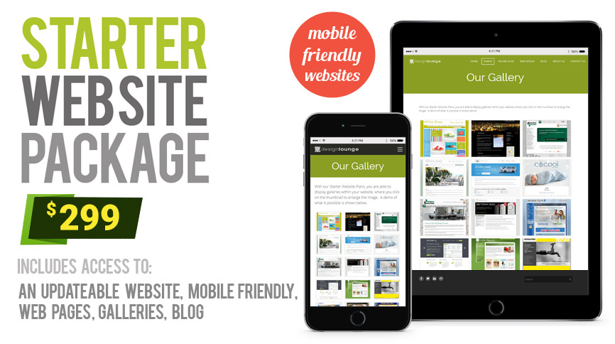 starter website design packages