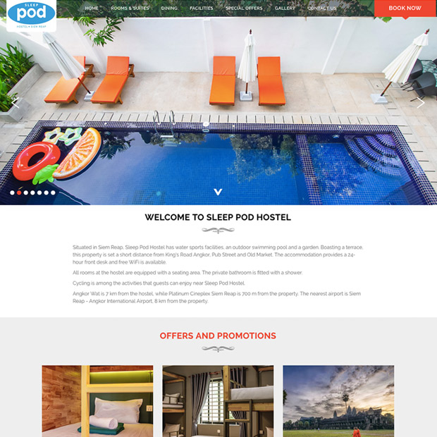 Sleep Pod Hostel in Siem Reap